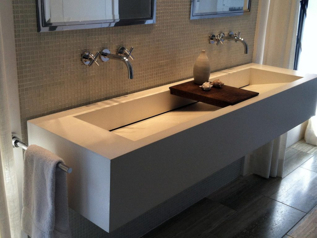 Bathroom Trough Sink Double Faucet : Trough Sinks For Bathooms : Handy Home Design