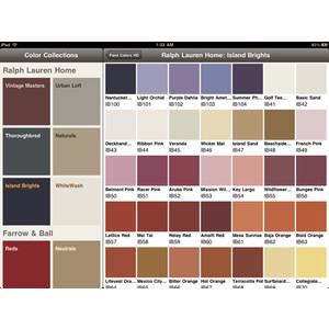 lauren paint colors chart