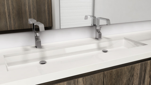 Undermount Trough Bathroom Sink Large Trough Style Sinks - Handy Home ...