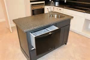 Kitchen Island Design with Dishwasher