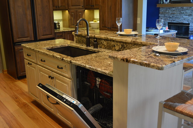 Kitchen Sink Island : Kitchen Island Design with Dishwasher : Handy Home Design