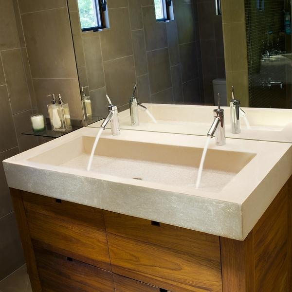 double sinks in a small bathroom trough sinks for bathooms handy home design 25250