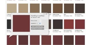 Ralph Lauren Metallic Paint Chart