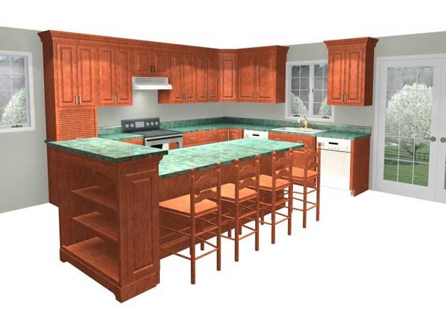 Multi level kitchen island design ideas handy home design for Two level kitchen island